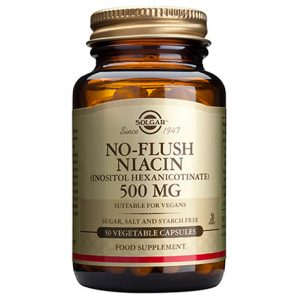 Solgar No-Flush Niacin (Inositol Hexanicotinate) 500mg Capsules (50)
