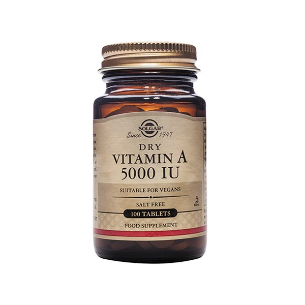 Solgar Dry Vitamin A 5000 IU (1502 ug) – (100) Tablets