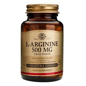 Solgar L-Arginine 500mg Capsules (50)