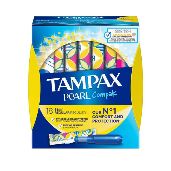 Tampak Pearl Compak Regular Applicator Tampons (18)
