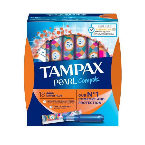 Tampax Pearl Compak Super Plus Applicator Tampons (18)