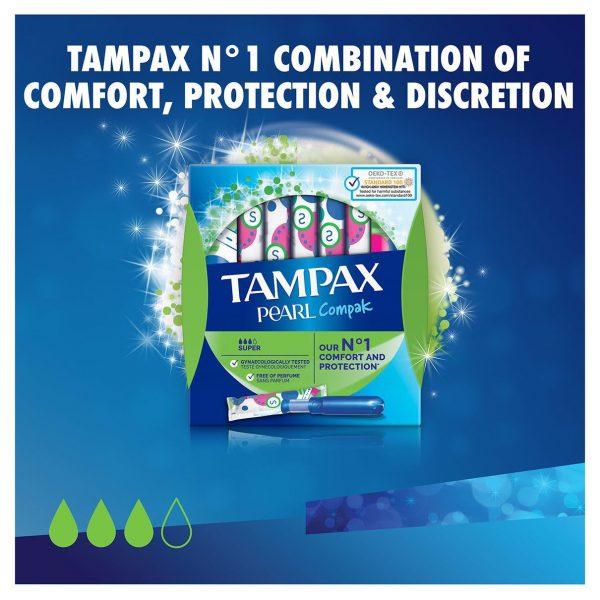 Tampax Pearl Compak Super Applicator Tampons (18)