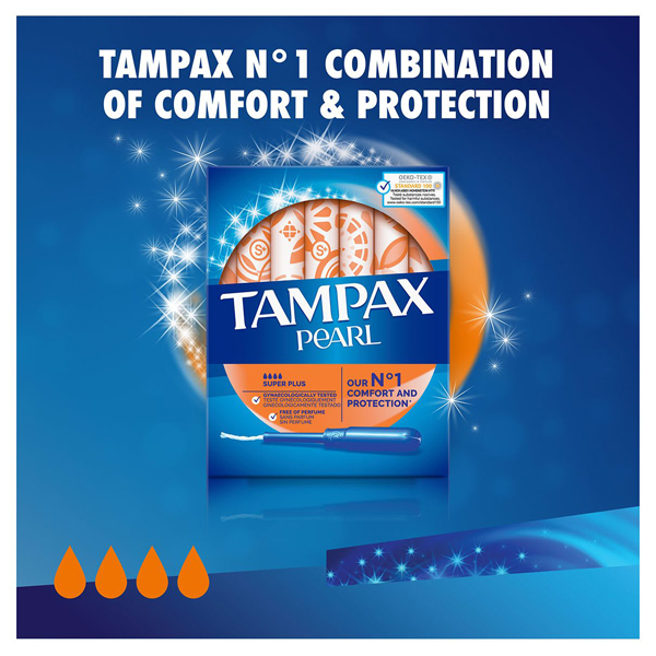 Tampax Pearl Super Plus Applicator Tampons