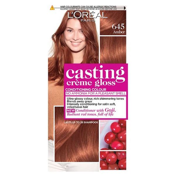L'Oreal Casting Creme Gloss 645 Amber Semi Permanent Hair Dye
