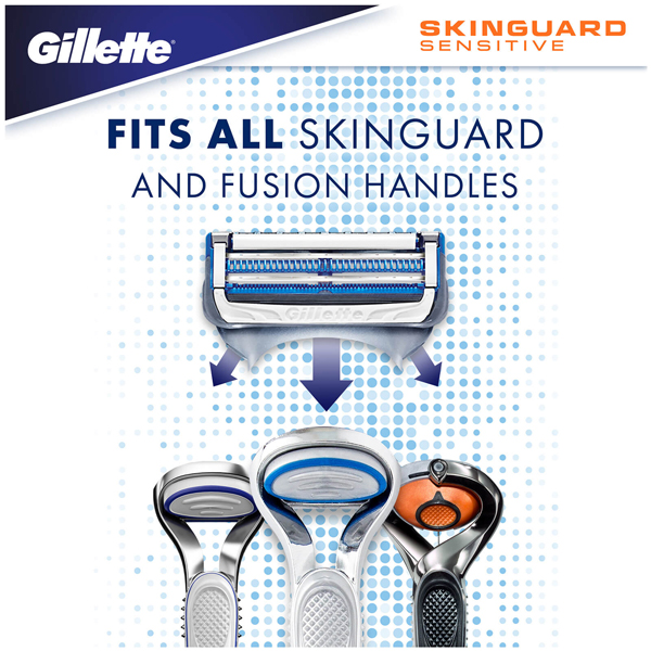 Gillette SkinGuard Sensitive Razor + 3 Blades