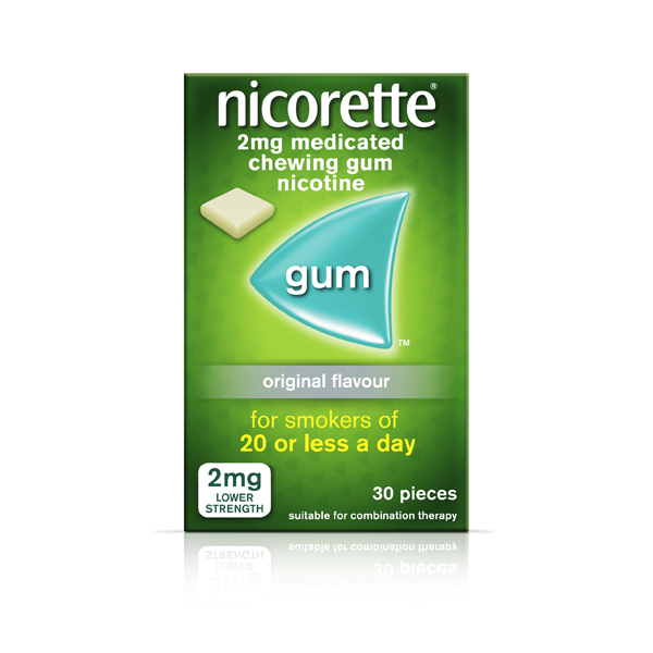 Nicorette Gum (30 Pieces)
