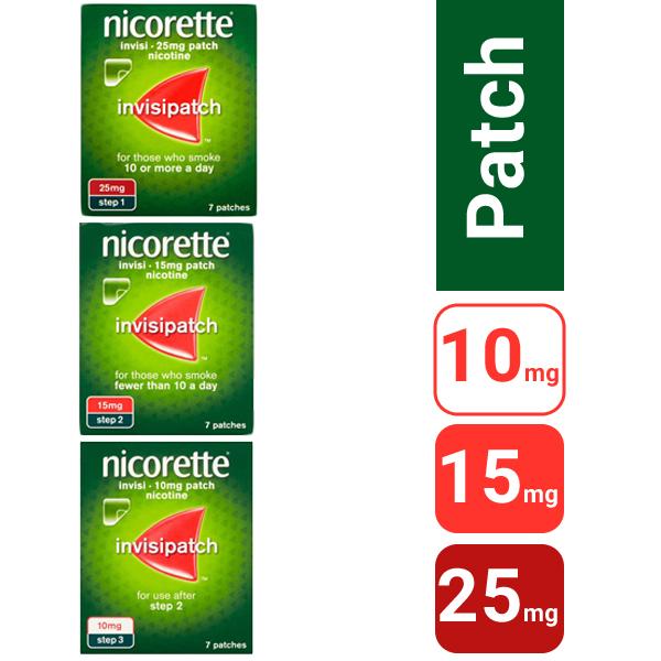 Nicorette (Nicotine) Patch Invisi – 7 Patches