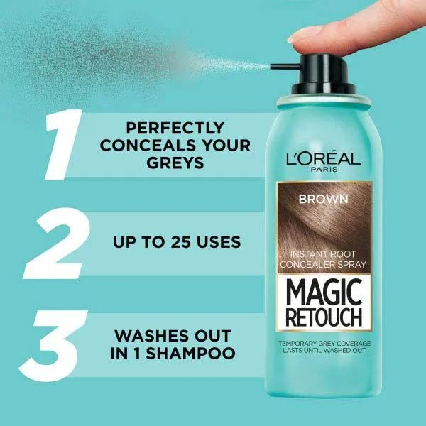 L'oreal Magic Retouch Root Touch Up  (Brown)