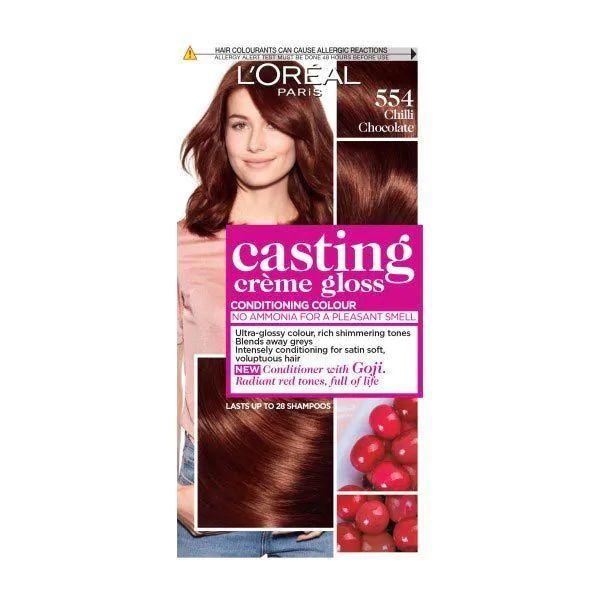 L'Oreal Casting Creme Semi Permanent Hair Dye Gloos 554 Chilli Chocolate