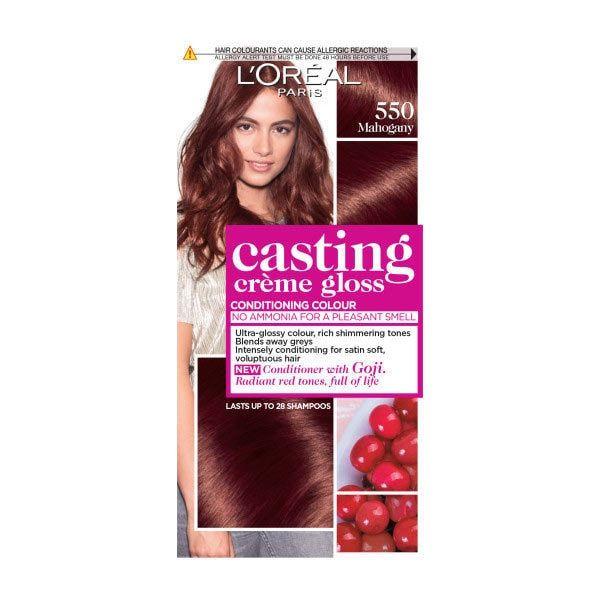 L'Oreal Casting Creme Semi Permanent Hair Dye Gloss 550 Mahogany