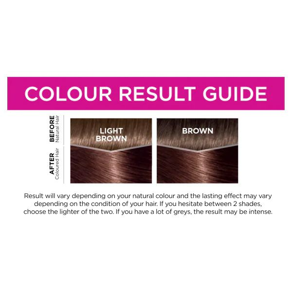 L'Oreal Casting Creme Semi Permanent Hair Dye Gloss 500 Medium Brown