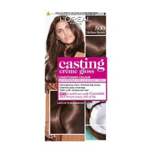 L'Oreal Casting Creme Semi Permanent Hair Dye Gloss 500 Medium Brown