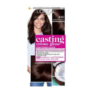 L'Oreal Casting Creme Semi Permanent Hair Dye Gloss 300 Darkest Brown
