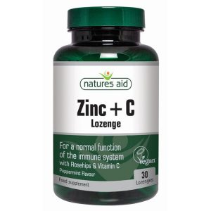 Natures Aid Zinc & Vitamin C Lozenges (30)