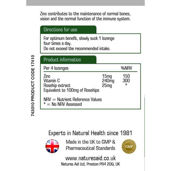 Natures Aid Zinc & Vitamin C Lozenges (30)