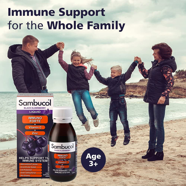 Sambucol Liquid Immuno Forte – Black Elderberry (120ml)