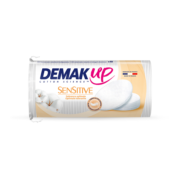 Cotton Wool Pads – DemakUp Sensitive Oval (48 pack)