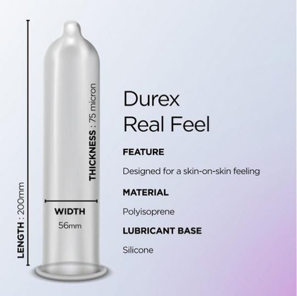 Durex Real Feel Condoms – 12 Pack
