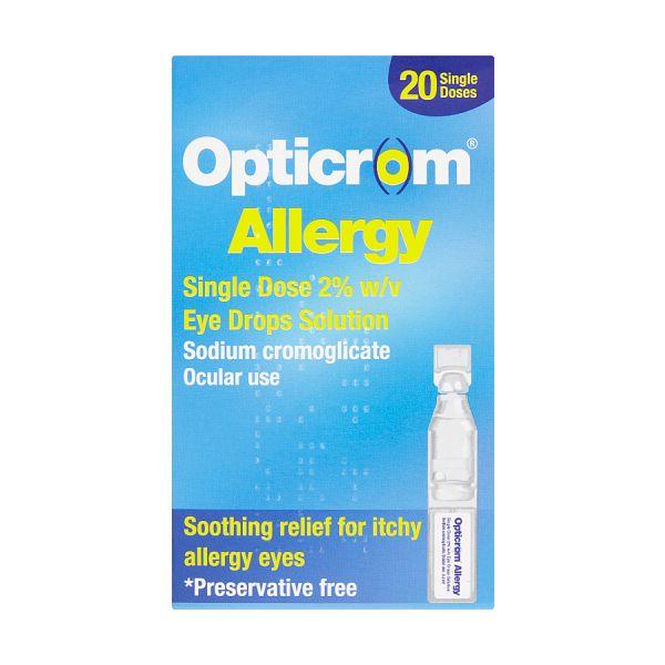 Opticrom Allergy Single Dose 2% Eye Drops (20)