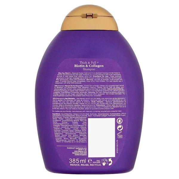 OGX Thick & Full Biotin & Collagen Shampoo (385ml)