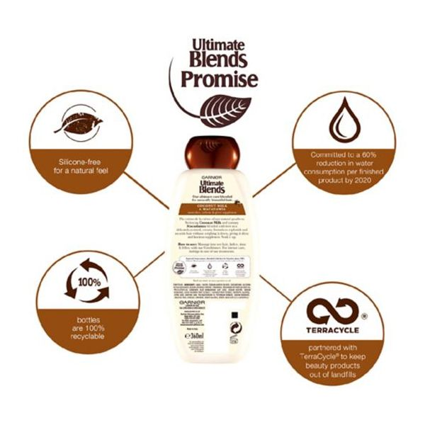 Garnier Ultimate Blends Coconut Milk Dry Hair Shampoo (360ml)