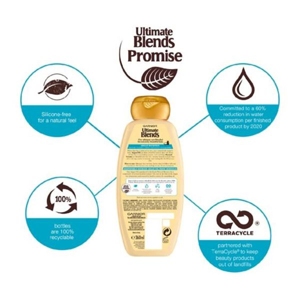 Garnier Ultimate Blends Argan Oil & Almond Cream Dry Hair Shampoo (360ml)
