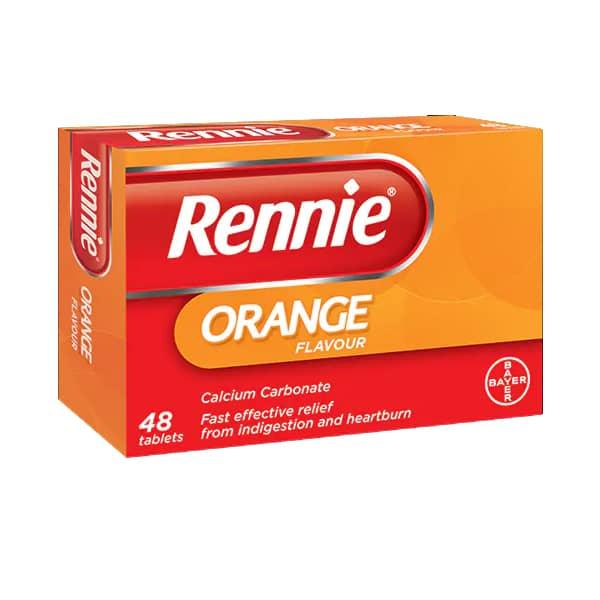 Rennie Orange Flavour Tablets (48)