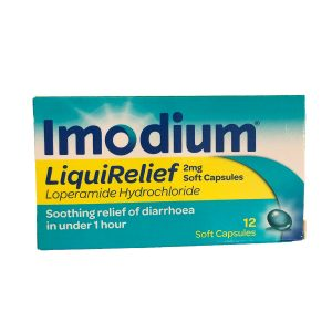 Imodium Liquid Relief 2mg Capsules (12)