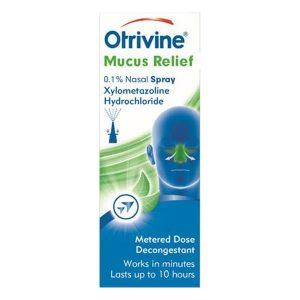 Otrivine Decongestant Mucus Relief Nasal Spray 10ml