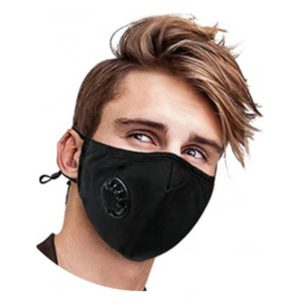 Reusable 100% Cotton Face Mask with exhalation valve and interchangeable disposable filters
