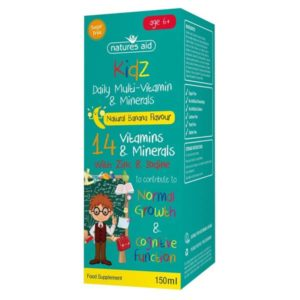 Kids Multi-Vitamins & Minerals by Natures Aid (150ml)