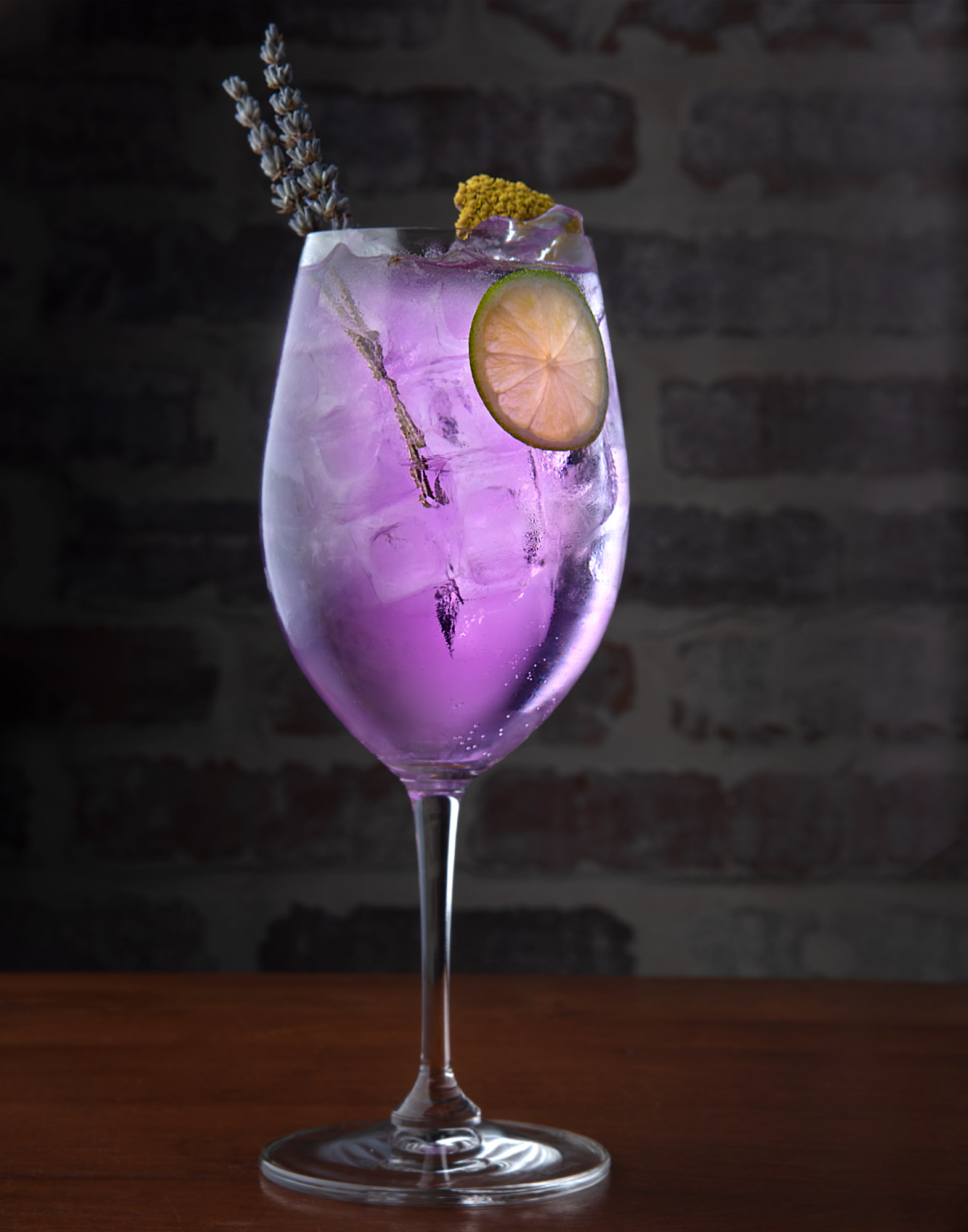 Negroni lavender cocktail