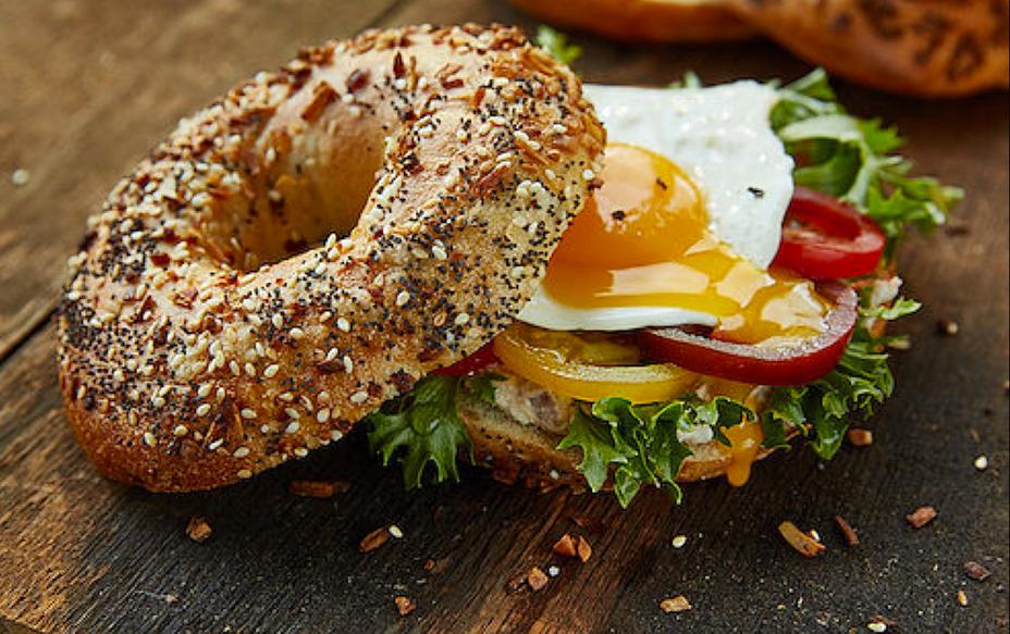 A Trendy Bagel Sandwich w/ Egg