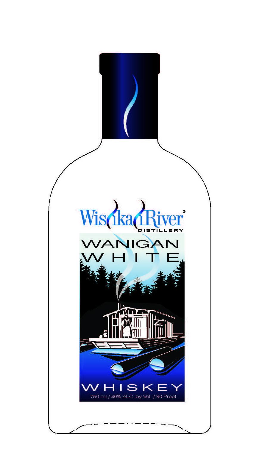Wishkah River Distillery Wanigan White Whiskey Label