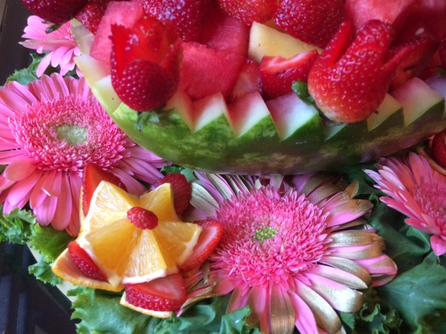 Watermelon Basket Centerpiece