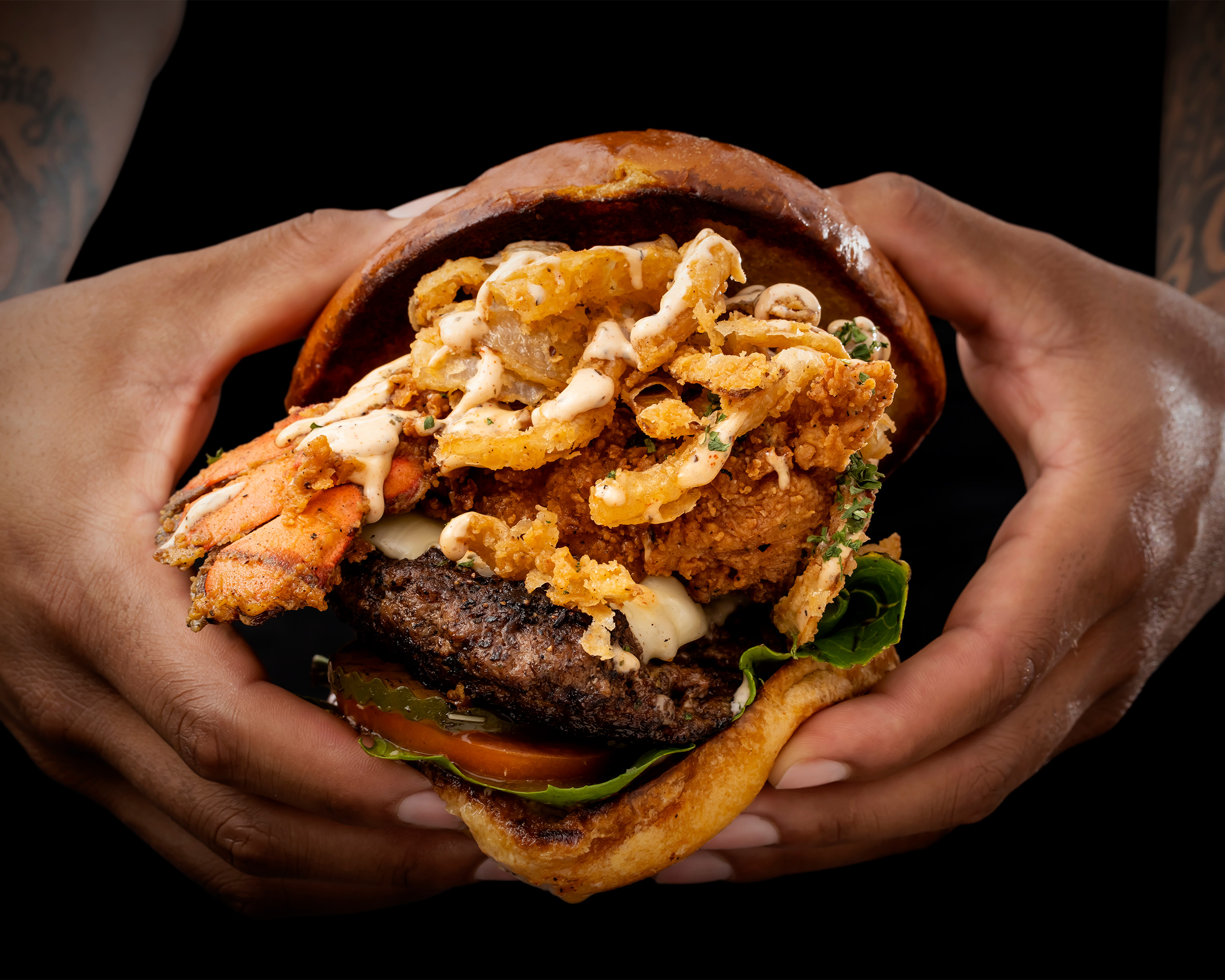 Surf and Turf Burger Advertising Campaign for Billionaire Burger Boyz