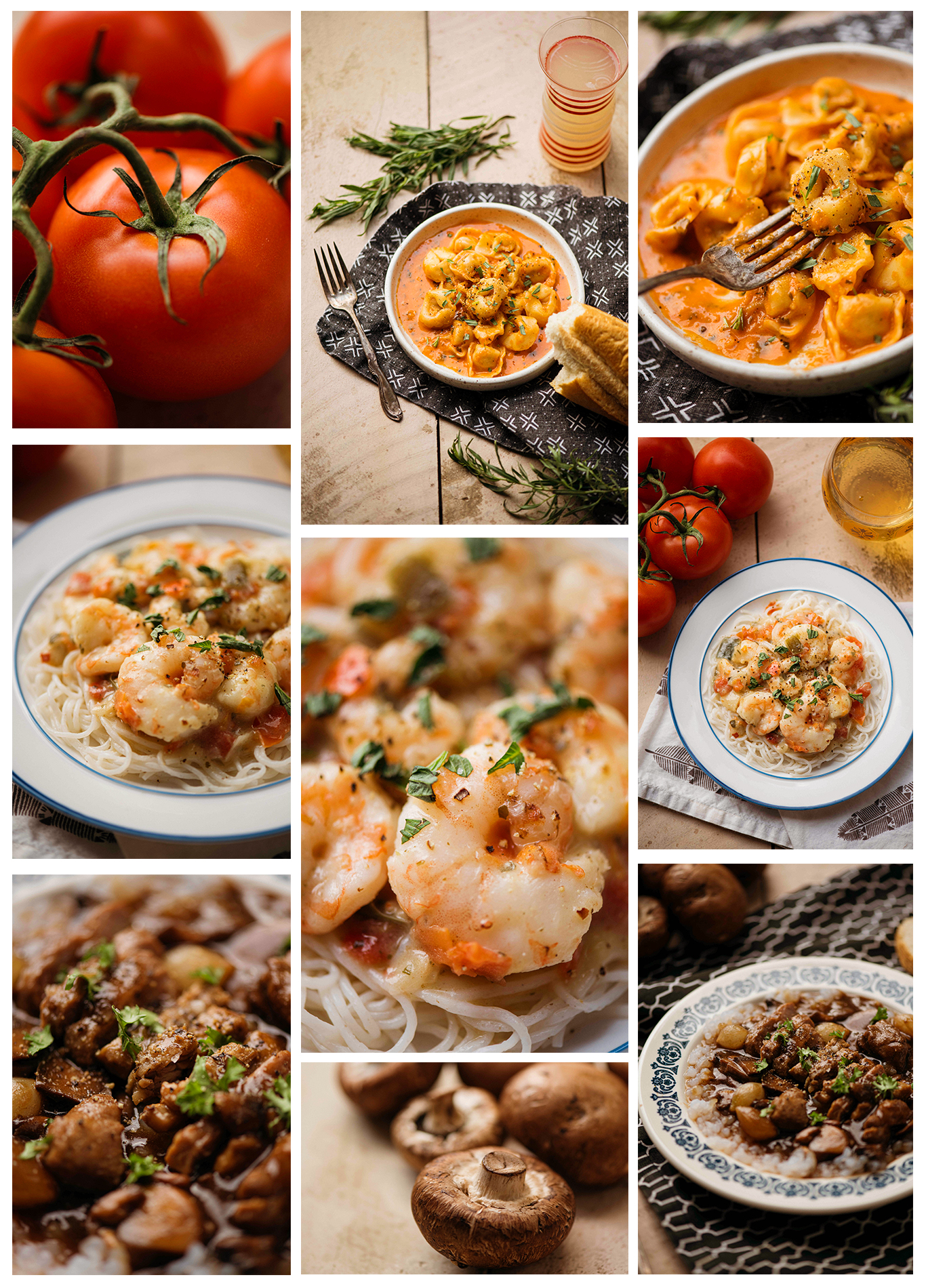 Styled Frozen Food Meals