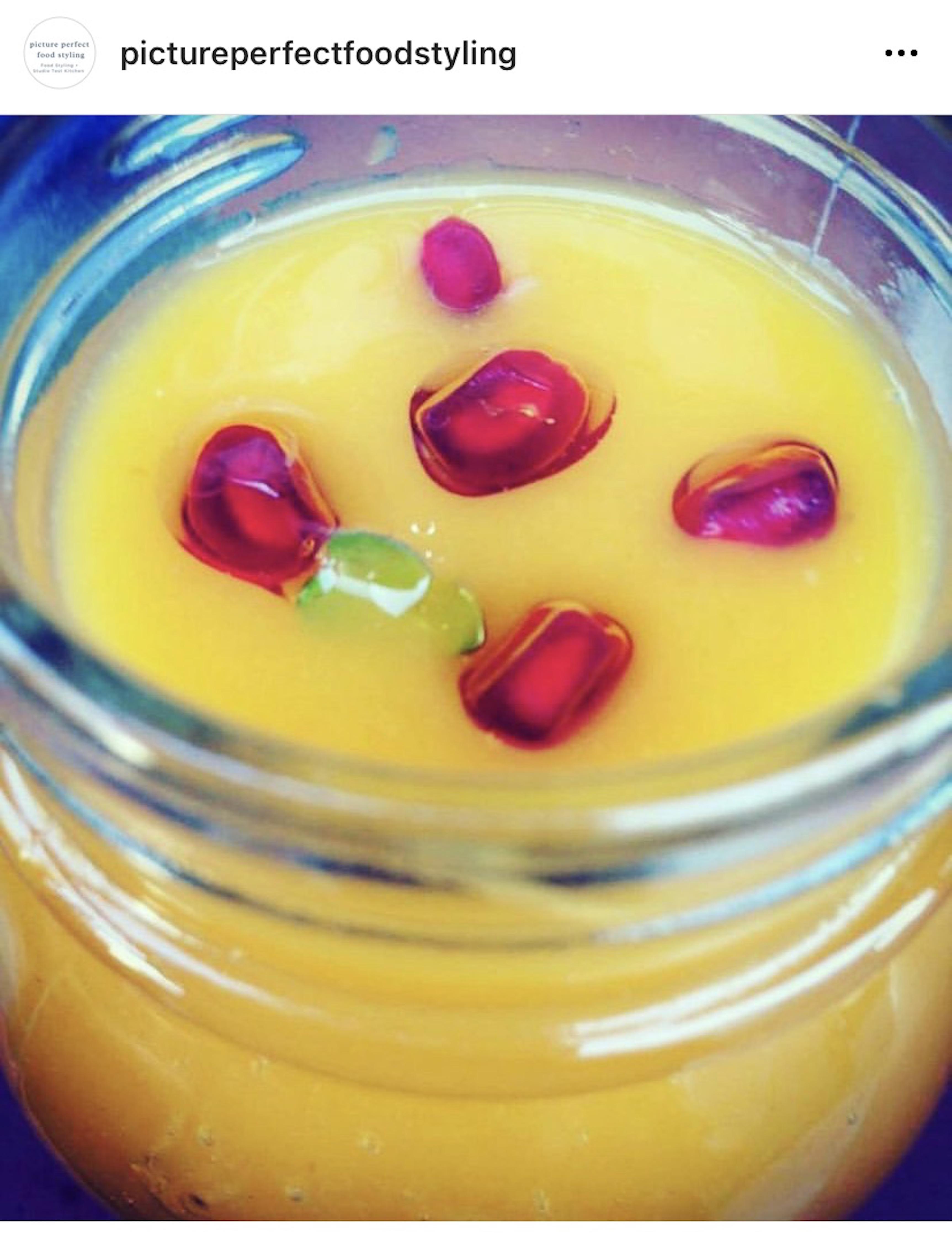 Pumpkin Soup with Pom Gems