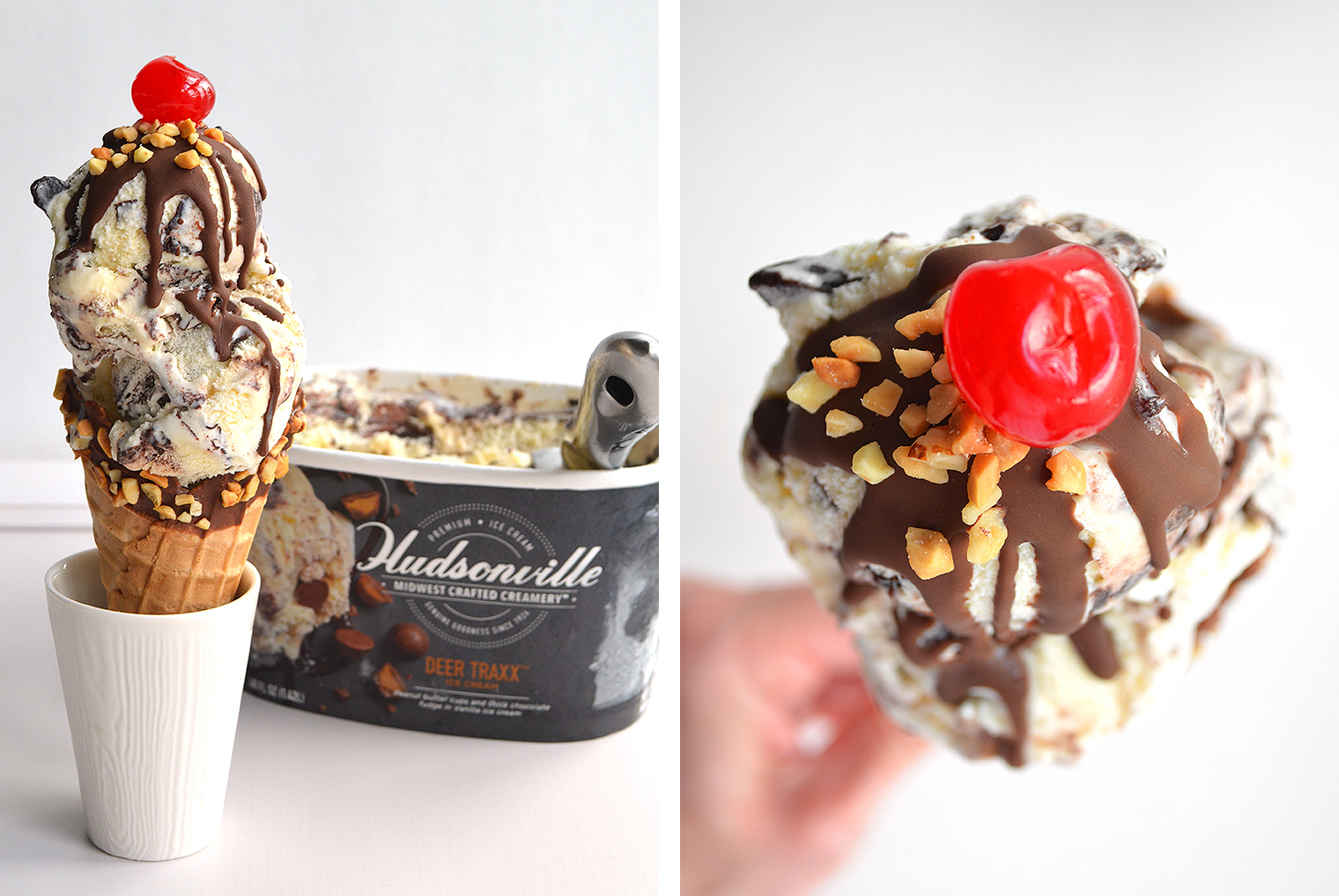 Easy Build-Your-Own Sundaes and Cones with Hudsonville Ice Cream