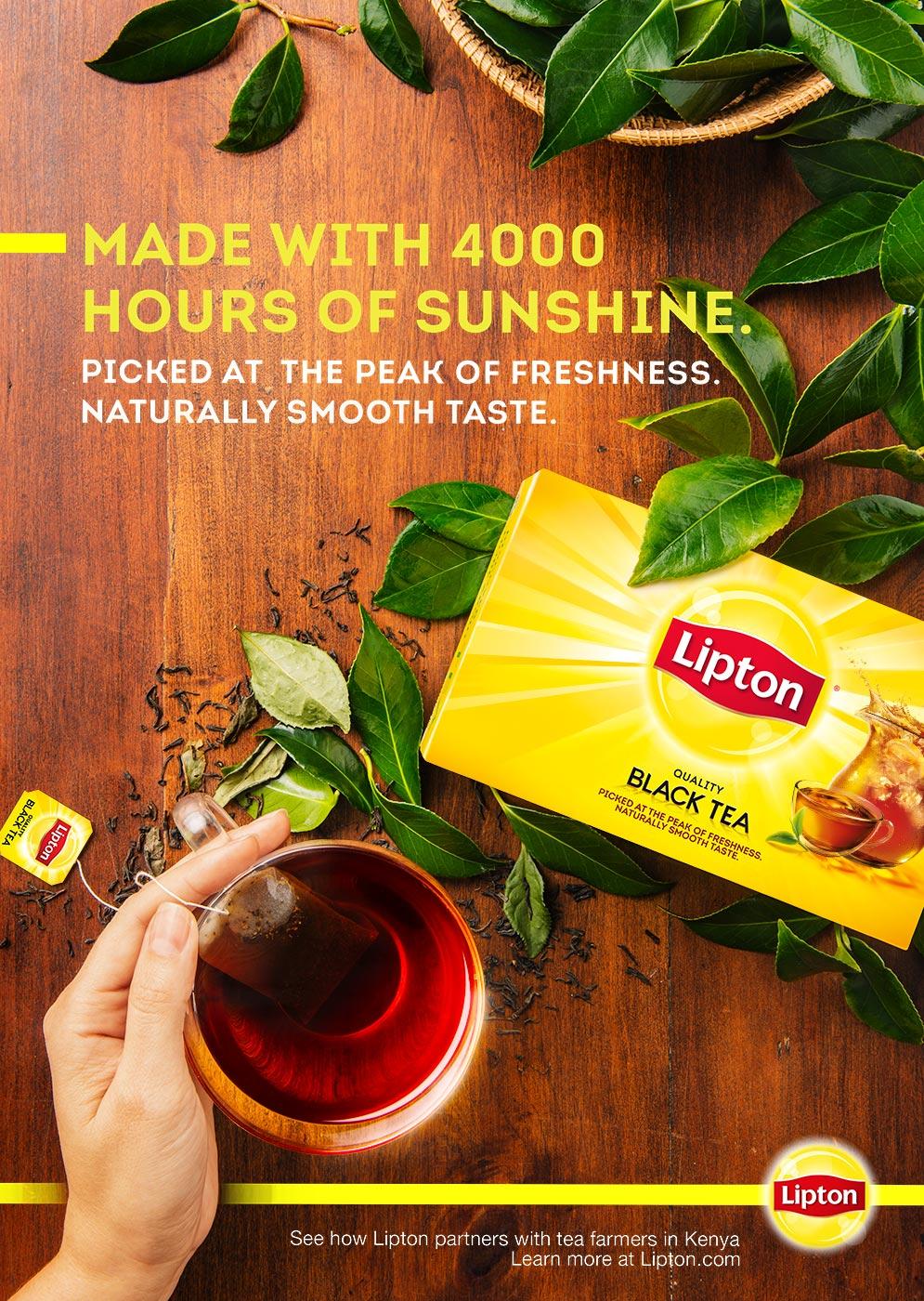 Ad campaign for Lipton