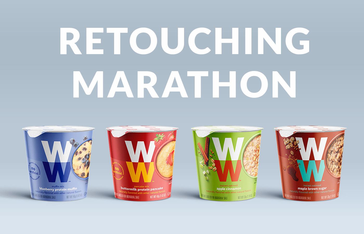 Retouching project for a global rebranding of Weight Watchers