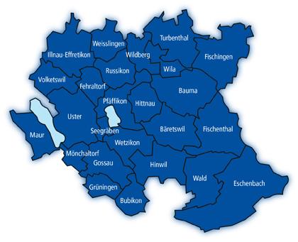 Wirkungsperimeter von Zürioberland Tourismus