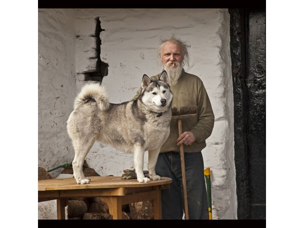 Cumbrian man with his dog
