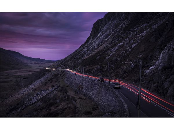 Sunset in the Nant Ffrancon Pass