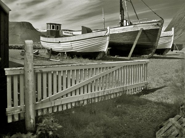 Old boats, Iceland