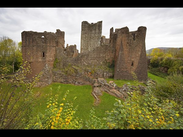 Remains of Goodrich Castle near Whitchurch, Herefordshire