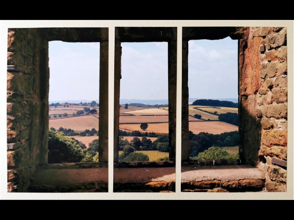 Panoramic view from Hardwick Old Hall