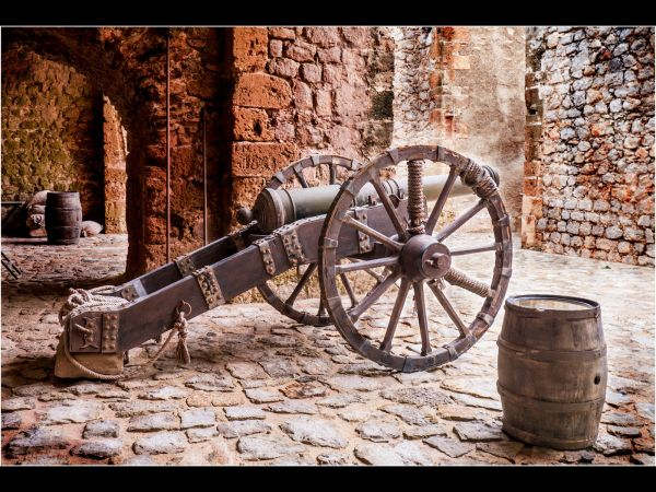 Cannon at the ready