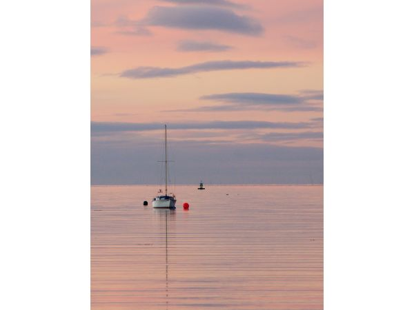 Moored at sunset