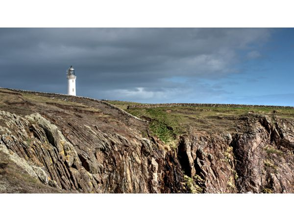 Mull of Galloway coast and lighthouse